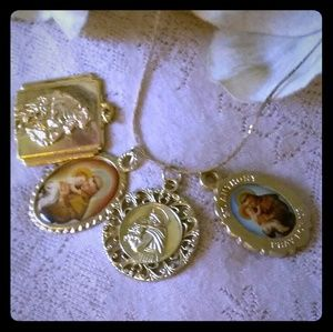 Vintage Necklace Set of St. Anthony Medals